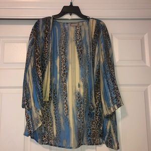 leopard cheetah sheer cardigan